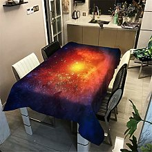 Tablecloth Rectangle Galaxy Purple Blue Red Green