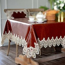 Tablecloth, Rectangle Table Covers, PVC Oil Wax