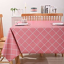 Tablecloth Rectangular,Pvc Oblong Table Cloth,Pink