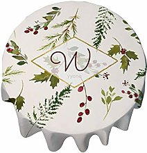 Tablecloth Round 36 Inch Table Cover Christmas