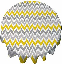 Tablecloth Round 36 Inch Table Cover Wing Stripe