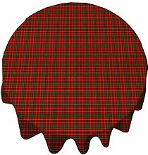 Tablecloth Round 50 Inch Table Cover Tartan