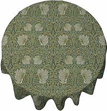 Tablecloth Round 50 Inch Table Cover Vintage