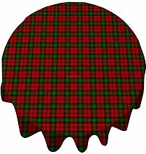 Tablecloth Round 54 Inch Table Cover Red Green