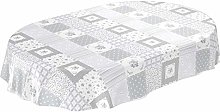 Tablecloth, washable oilcloth, light grey