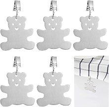 Tablecloth Weight with Clips ? 6pcs Stainless