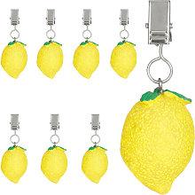 tablecloth weights, lemon design, set of 8, for