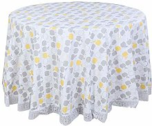 Tablecloths PVC Oil Stain Water Resistant Round 72