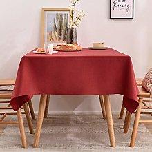 Tablecloths Rectangle Faux Linen Table Cloth,
