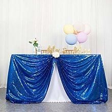 Tablecloths Sequin Tablecloth Blue 50x72-Inch