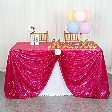 Tablecloths Sequin Tablecloth Hot Pink 50x72-Inch
