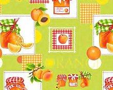 TableclothsWorld Apricots and Oranges PVC Vinyl
