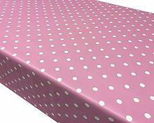 TableclothsWorld Baby Pink Polka Dot Spots PVC
