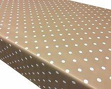 TableclothsWorld Beige Polka Dot Spots PVC Vinyl