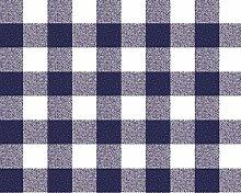 TableclothsWorld Blue Gingham Check PVC Vinyl Wipe