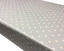 TableclothsWorld Duck Egg Blue Polka Dot Spots PVC