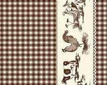 TableclothsWorld Farm Animals Check PVC Vinyl Wipe
