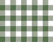 TableclothsWorld Green Gingham Check PVC Vinyl