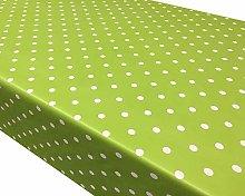 TableclothsWorld Lime Green Polka Dot Spots PVC