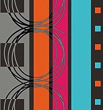 TableclothsWorld Modern Stripes Squares PVC Vinyl