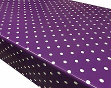 TableclothsWorld Purple Polka Dot Spots PVC Vinyl