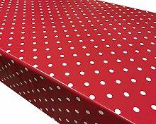 TableclothsWorld Red Polka Dot Spots PVC Vinyl