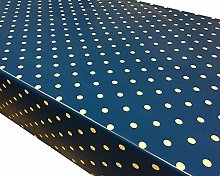 TableclothsWorld Royal Blue Polka Dot Spots PVC