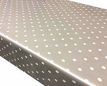 TableclothsWorld Silver Polka Dot Spots PVC Vinyl