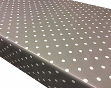 TableclothsWorld Slate Grey Polka Dot Spots PVC