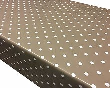 TableclothsWorld Taupe Polka Dot Spots PVC Vinyl