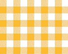 TableclothsWorld Yellow Gingham Check PVC Vinyl