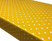 TableclothsWorld Yellow Polka Dot Spots PVC Vinyl