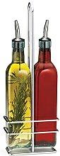 TableCraft Oil & Vinegar Bottle Set, Multi-Colour,