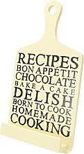 Tablet Holder and Cookbook Stand, Recipes Design,