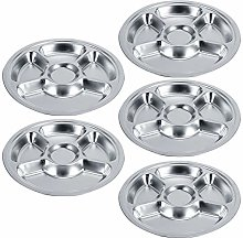 Tableware, Round Divided Service Plate Durable