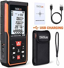 TACKLIFE Laser Measure,60M Laser Meter Distance