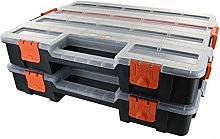 Tactix Tool Box case, Organiser, Set of 2,