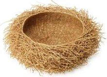 Tahiana - Medium Vetiver Basket - Wood/Natural