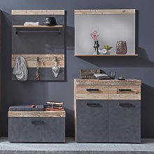 Tailor Hallway Furniture Set In Pale Wood And