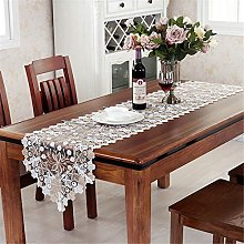 TaiXiuHome Gold White Hollow Lace Floral