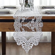 TaiXiuHome White European Embroidery Lace Table