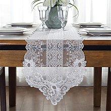 TaiXiuHome White European-style Floral Embroidery