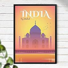 Taj Mahal Poster - India Travel Print | Travel
