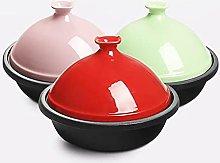 Taji Pot Cast Iron Enamel Saucepan Soup Pot