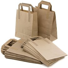 Takeaway Bags Brown Kraft Paper SOS Food Carrier