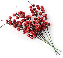 TAKEFUNS Red Berries,10 Artificial Red Berry