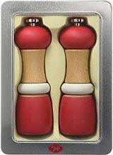 Tala Performance Red Wooden Capstan Salt & Pepper