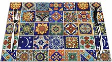 Talavera Mexican Tiles Placemats Set of