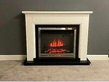 Talent Electric Fireplace Fire Heater Heating Real