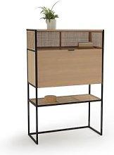 Talist Secretary's Desk with Woven Rattan by